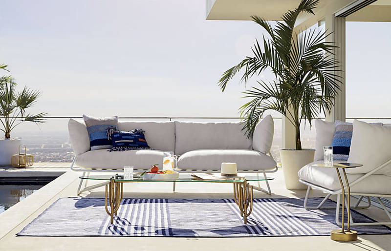 sick of winter check out cb2 39 s pool party collab with. Black Bedroom Furniture Sets. Home Design Ideas