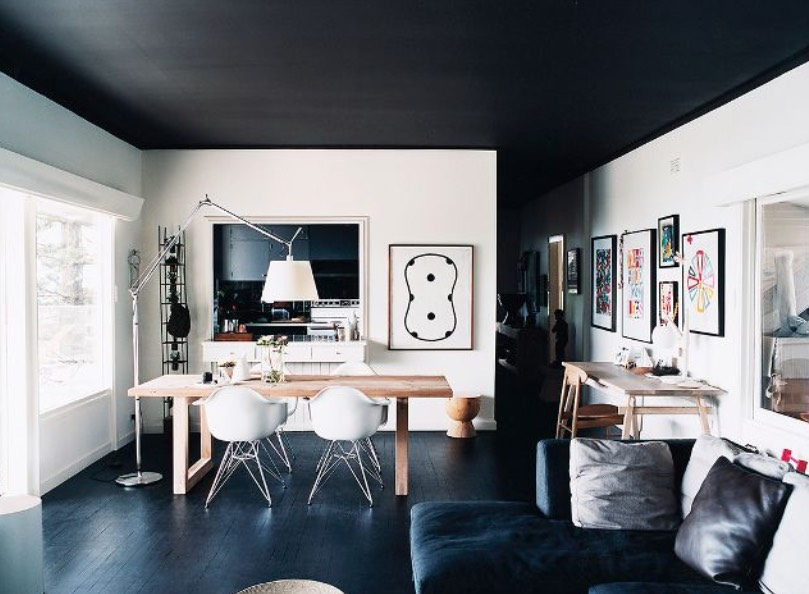 black painted ceiling ideas - freshome.com