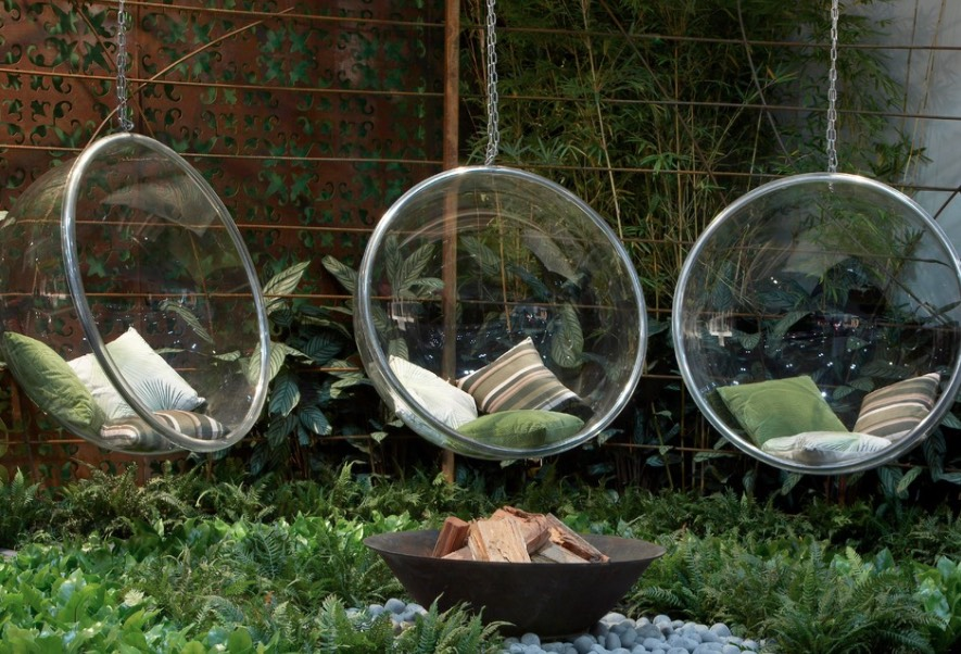 hanging bubble chairs - freshome.com