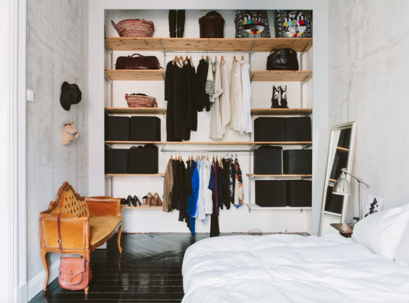 Check Out These 15 No-Closet and Tiny Closet Ideas That Work ...