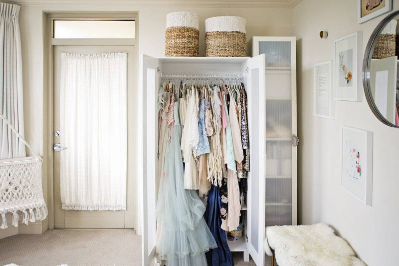 Check Out These 40 NoCloset And Tiny Closet Ideas That Work Beauteous Small Bedroom Closet Organization Ideas Concept Remodelling