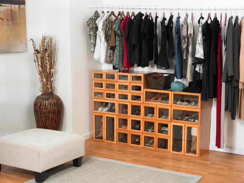 Check out these 15 no closet and tiny closet ideas that - Room with no closet ...
