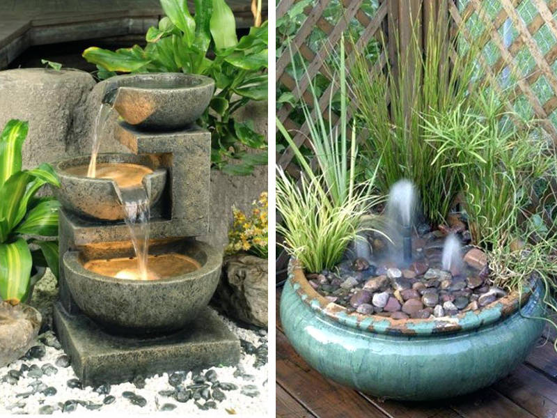 20 small garden water feature ideas to add a little more zen to your rh freshome com small backyard water feature ideas landscape water fountains ideas