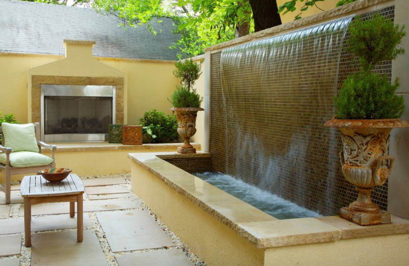 20 Small Garden Water Feature Ideas To Add A Little More ... on Water Feature Ideas For Patio id=37901
