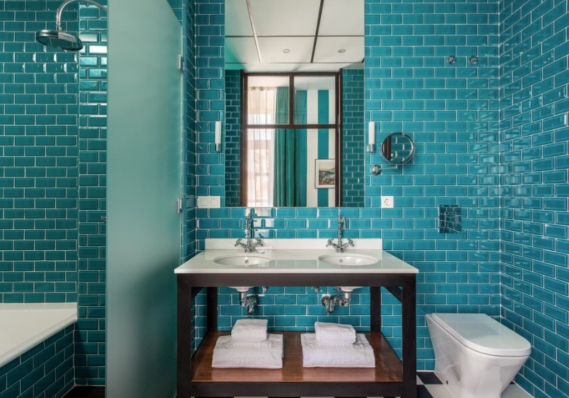 Selling Or Renovating Blue Bathrooms Like These