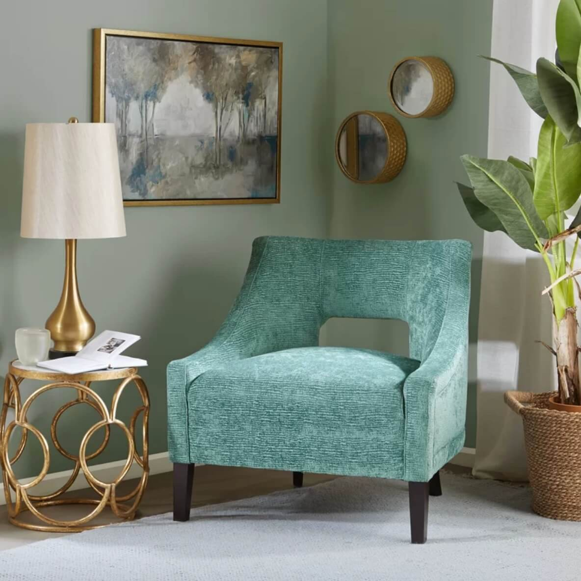 Modern teal chair