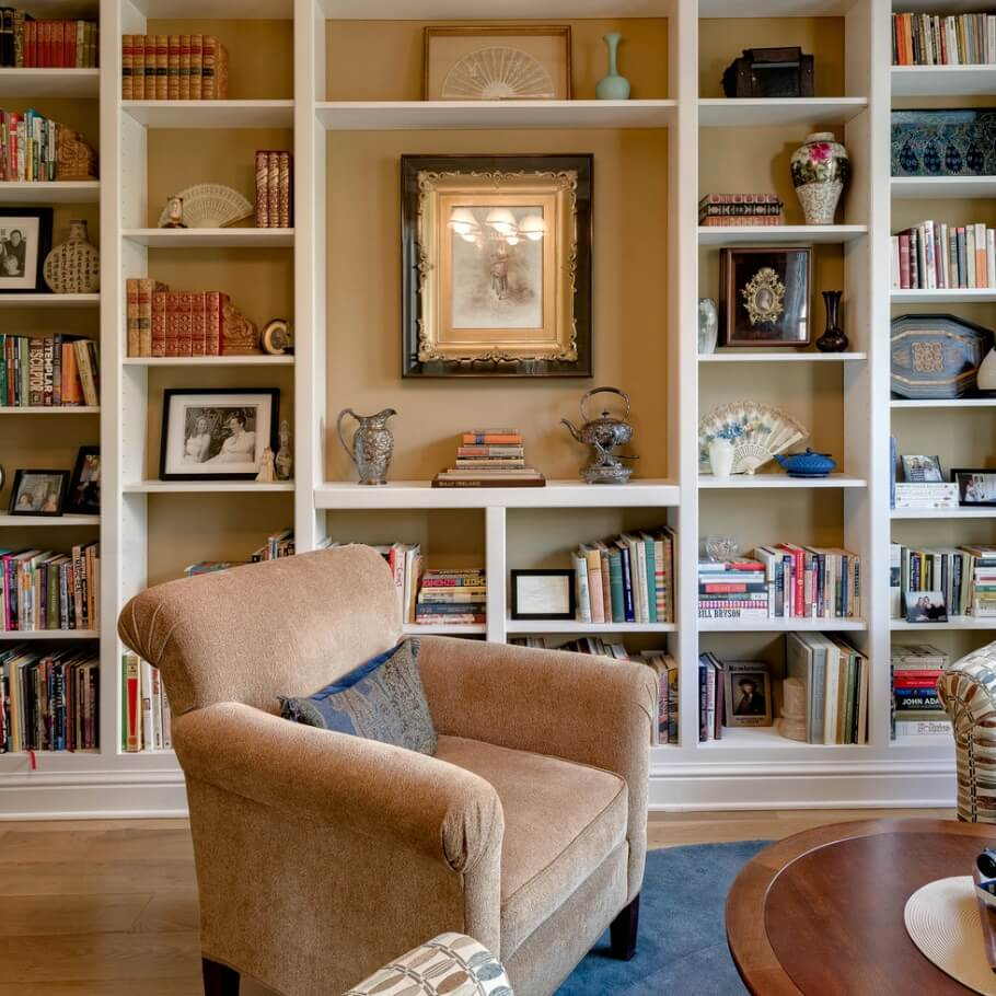Decorate with books and art