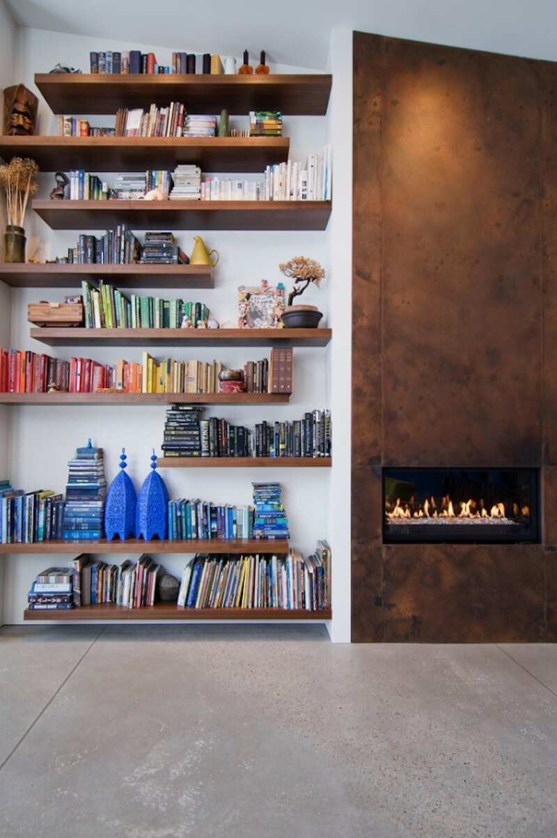 Decorate with Books Geometric Shelves