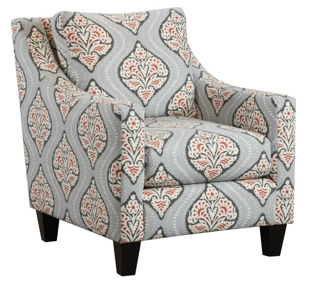 Gray Print Boho Chair
