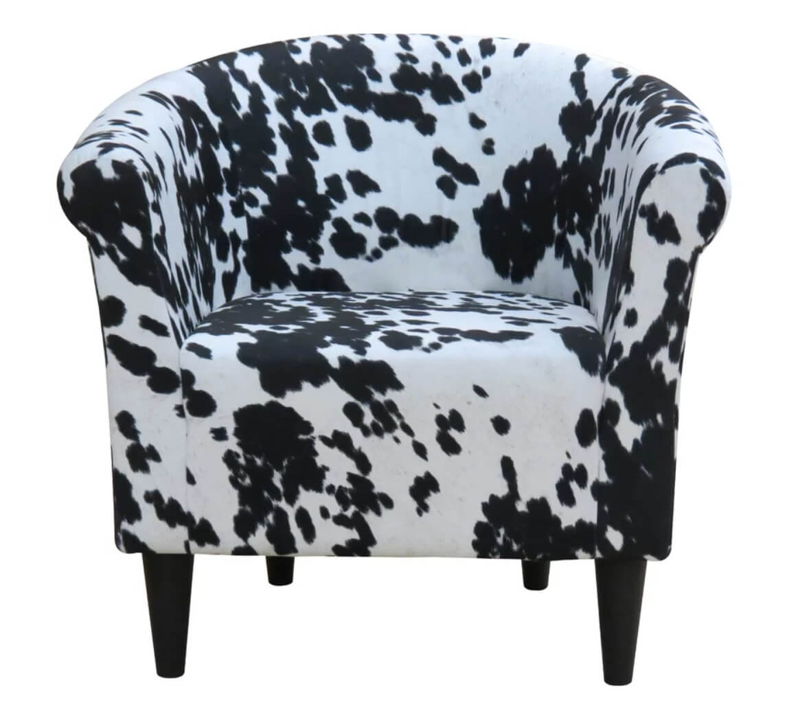 Mid-century cow pattern chair