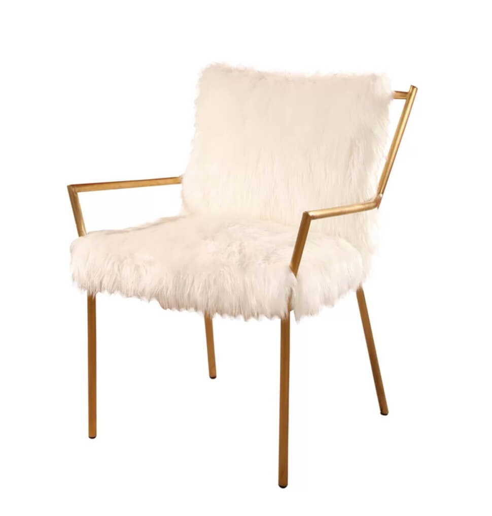 White mid-century modern chair