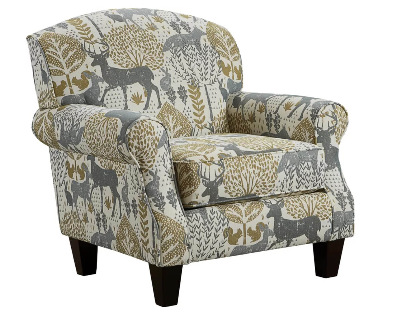 Modern rustic accent chair