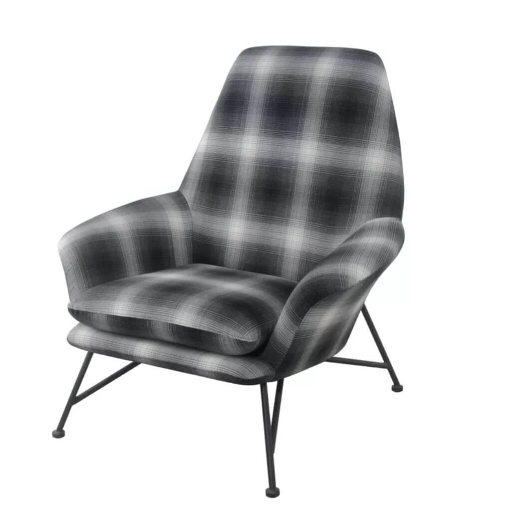 Rustic Modern Plaid Chair