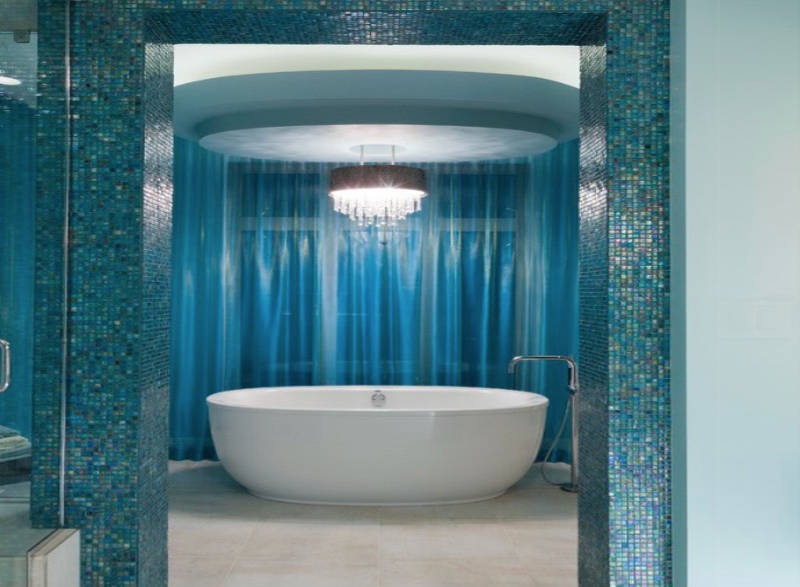 Blue Bathrooms (Like These) Increase Home Value