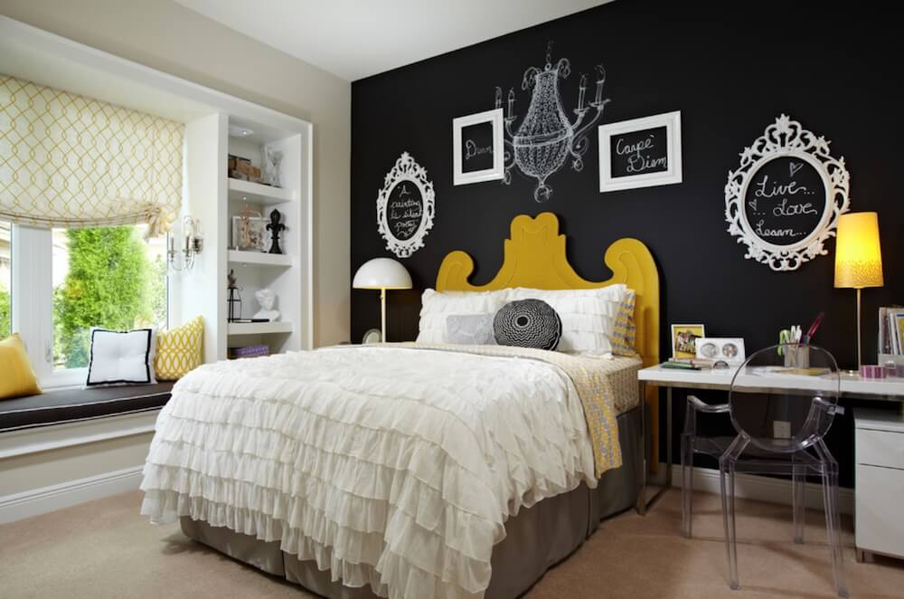 Chalkboard to Decorate Bedrooms Frames White