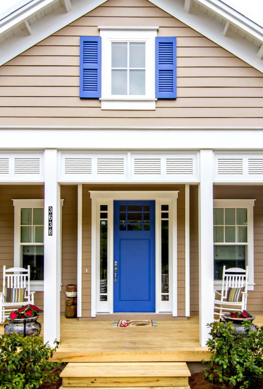 12 fresh new front door colors to welcome you home freshome - Front door colors for blue house ...