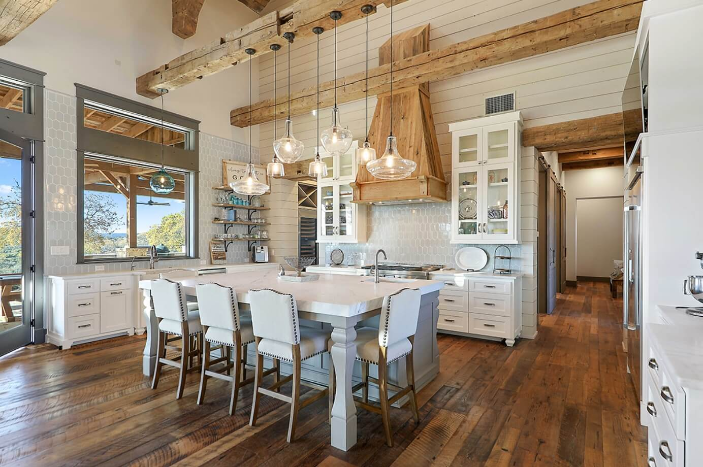 Modern farmhouse kitchen color ideas freshome - Farmhouse style kitchen cabinets ...
