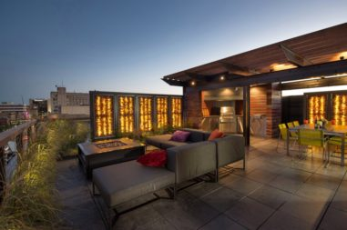 Outdoor Living Spaces Panels Fire Pit