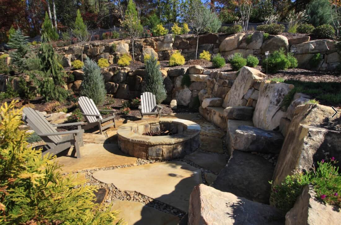 Outdoor Living Spaces Rustic Fire Pit