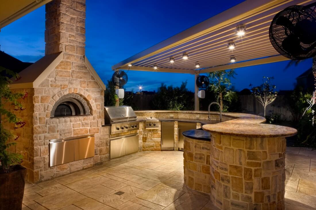 Outdoor Living Spaces Kitchen Stone