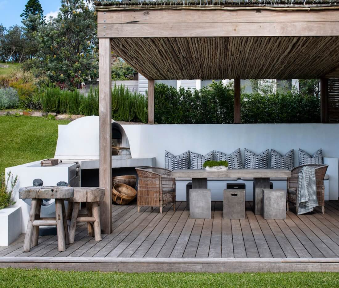 Outdoor Living Spaces Rustic Dining