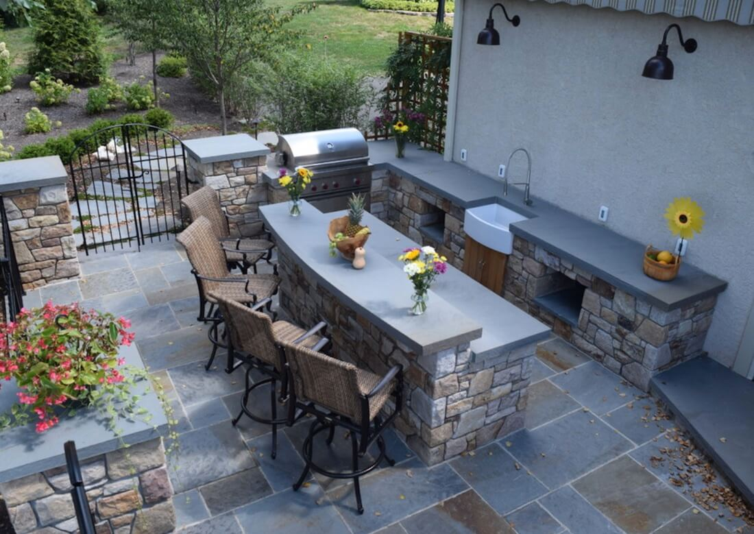 Outdoor Living Spaces White Sink