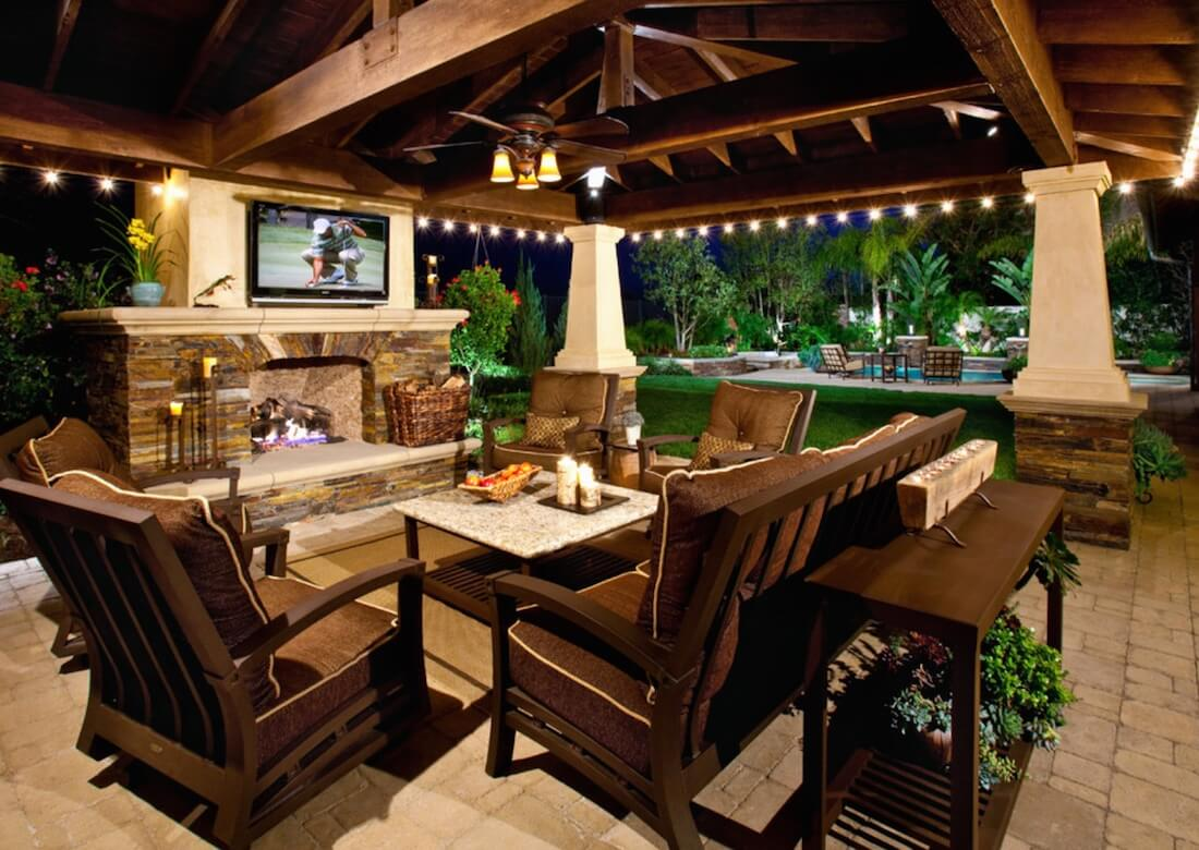 Outdoor Living Spaces TV On Wall
