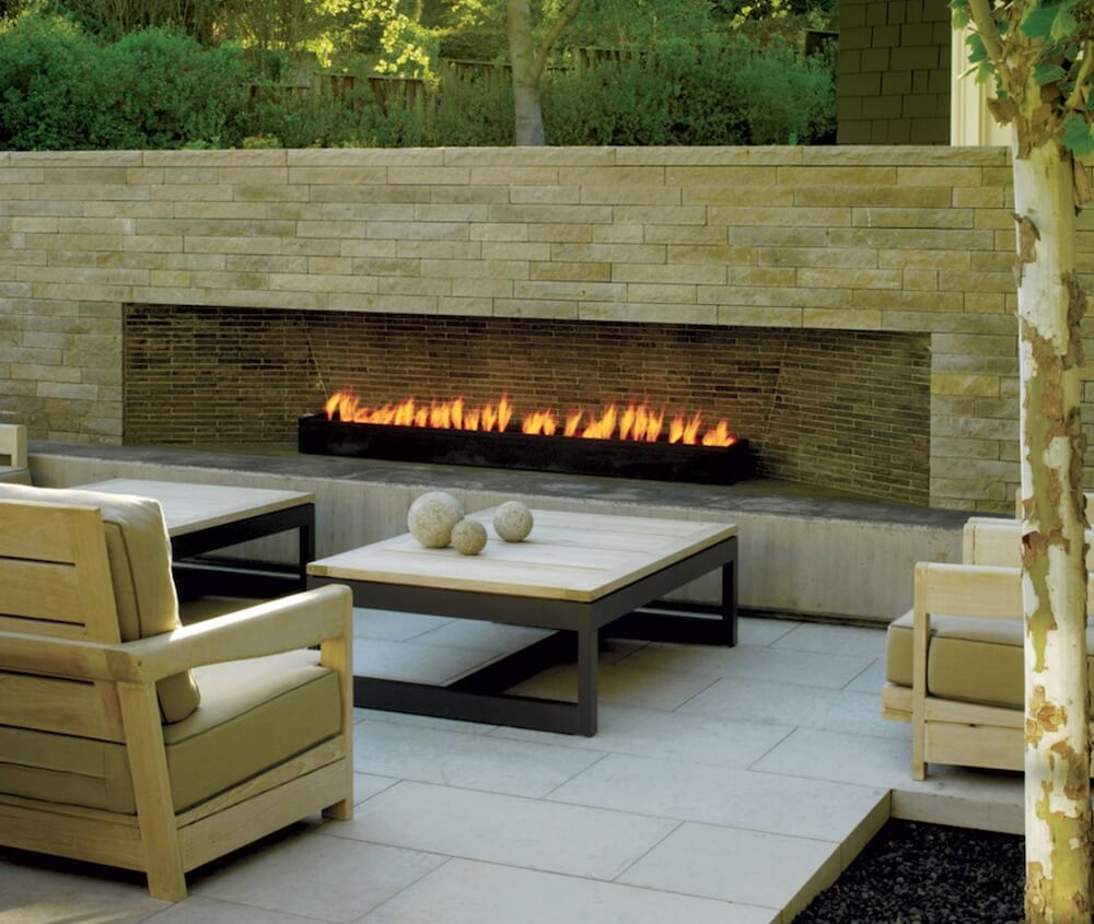 Outdoor Living Spaces Fire Pit Wall