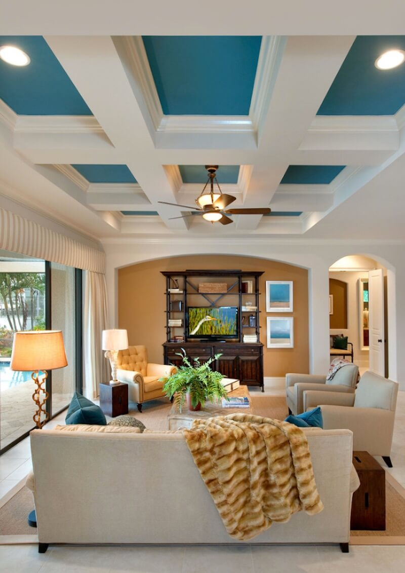 Statement Ceilings Bright Blue