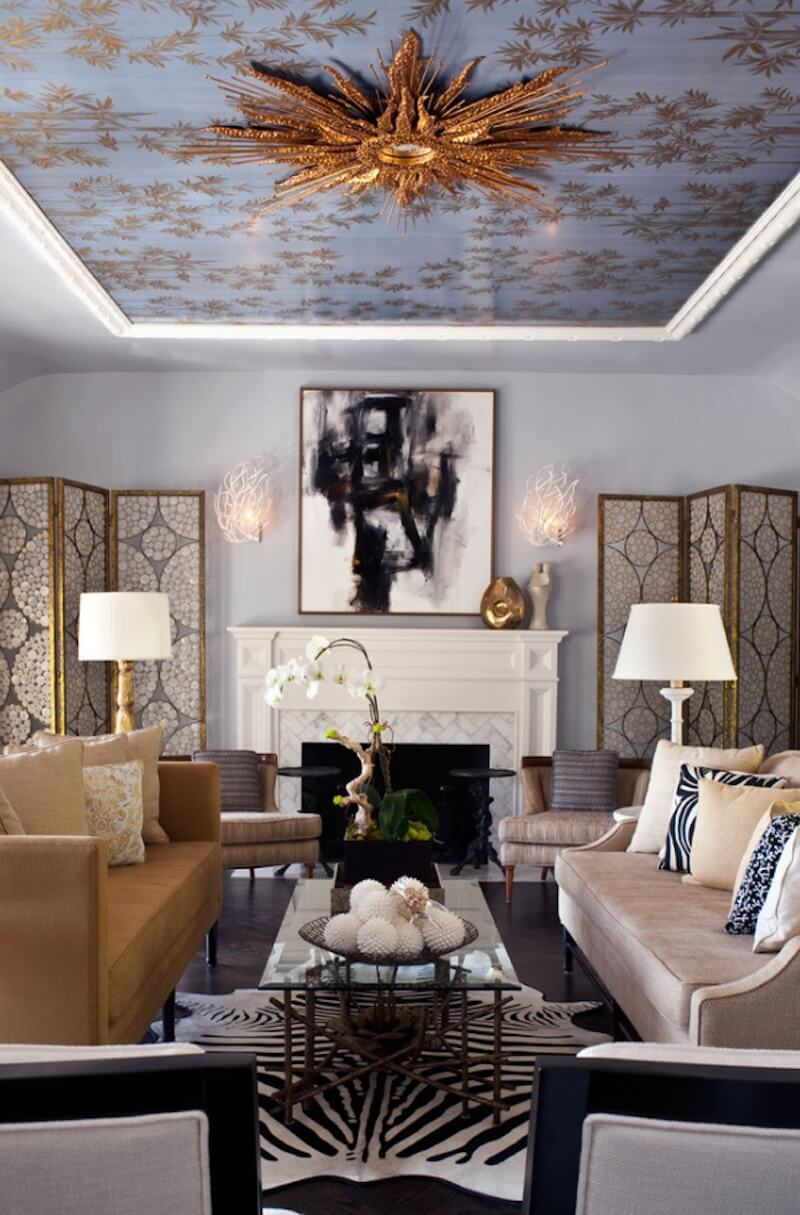 Statement Ceilings Gold Leaf