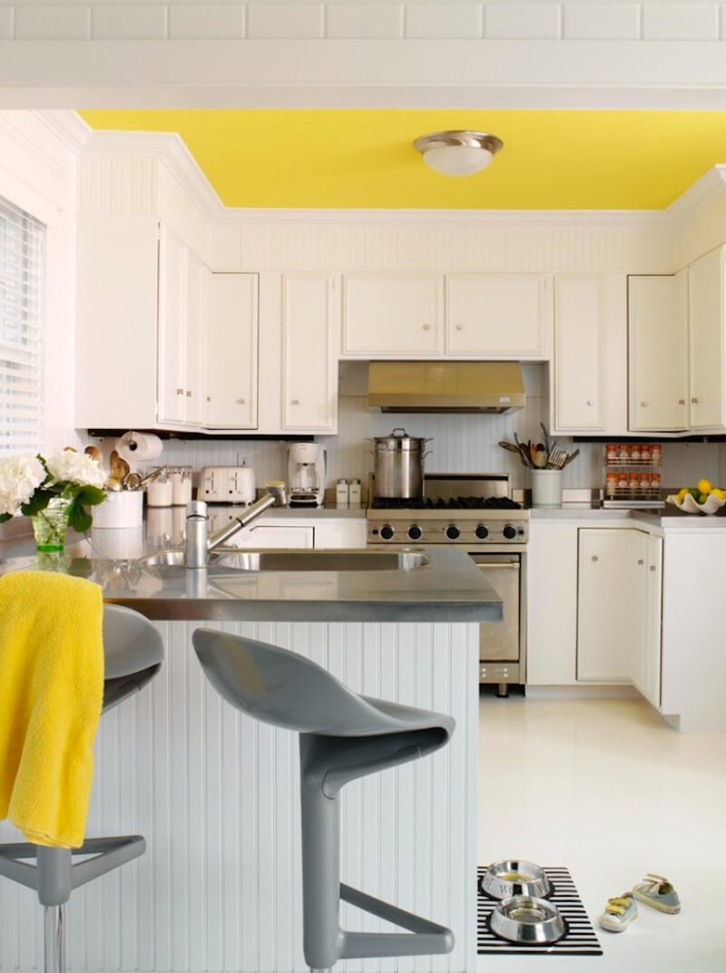 Statement Ceilings Bright Yellow