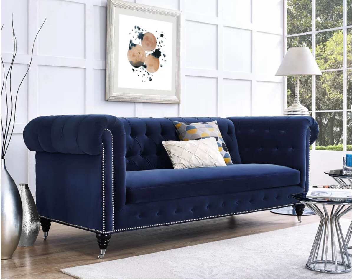 Cool 12 Dreamy Velvet Sofas Youll Love Freshome Com Pabps2019 Chair Design Images Pabps2019Com