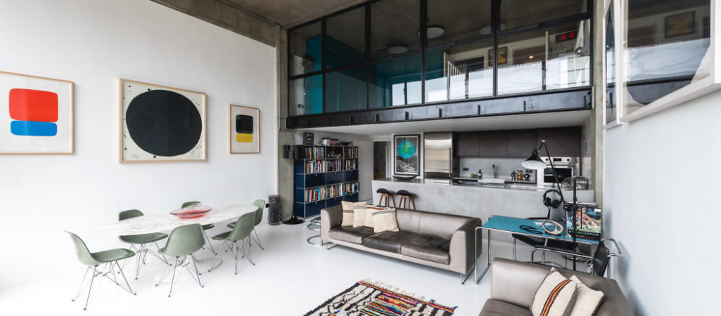 London Industrial Loft Jazzed Up with Art Details
