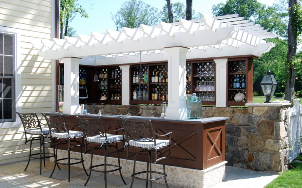 A Patio Bar Gives Your Guests A Built In Place To Congregate And Saves You  From Having To Run Back And Forth With Drink Orders. Image: Georgio Home