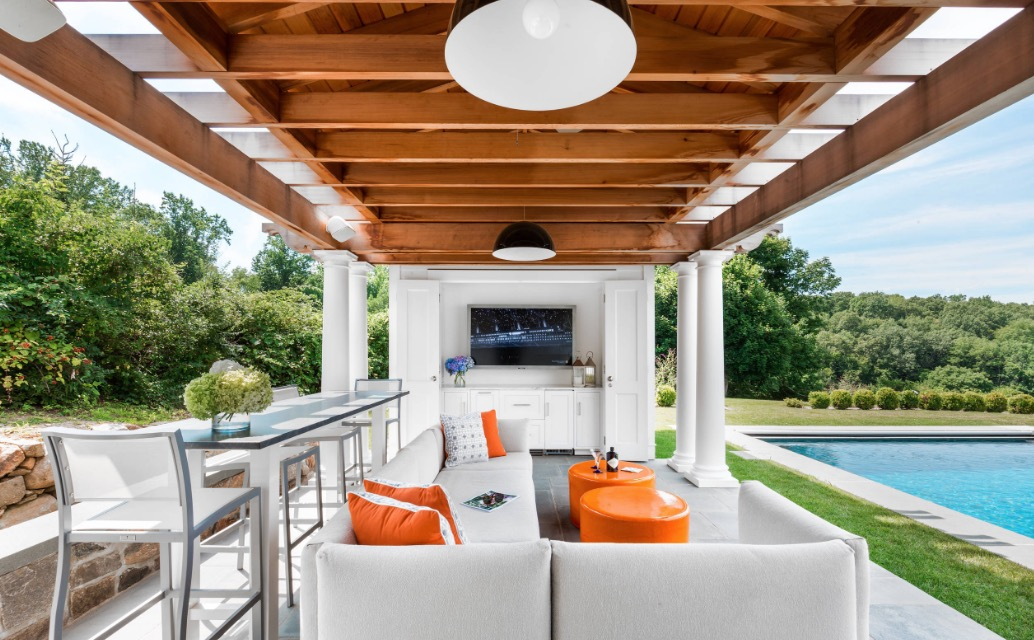 Adding A TV To The Patio Makes The Space Perfect For Watching The Big Game.  Image: Alisberg Parker