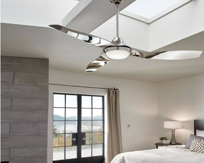 modern chrome ceiling fans