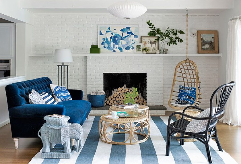Coastal Chic Beach House Decor For A Living Room