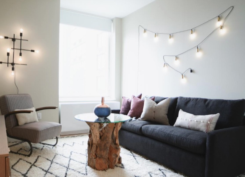 ways to decorate with string lights