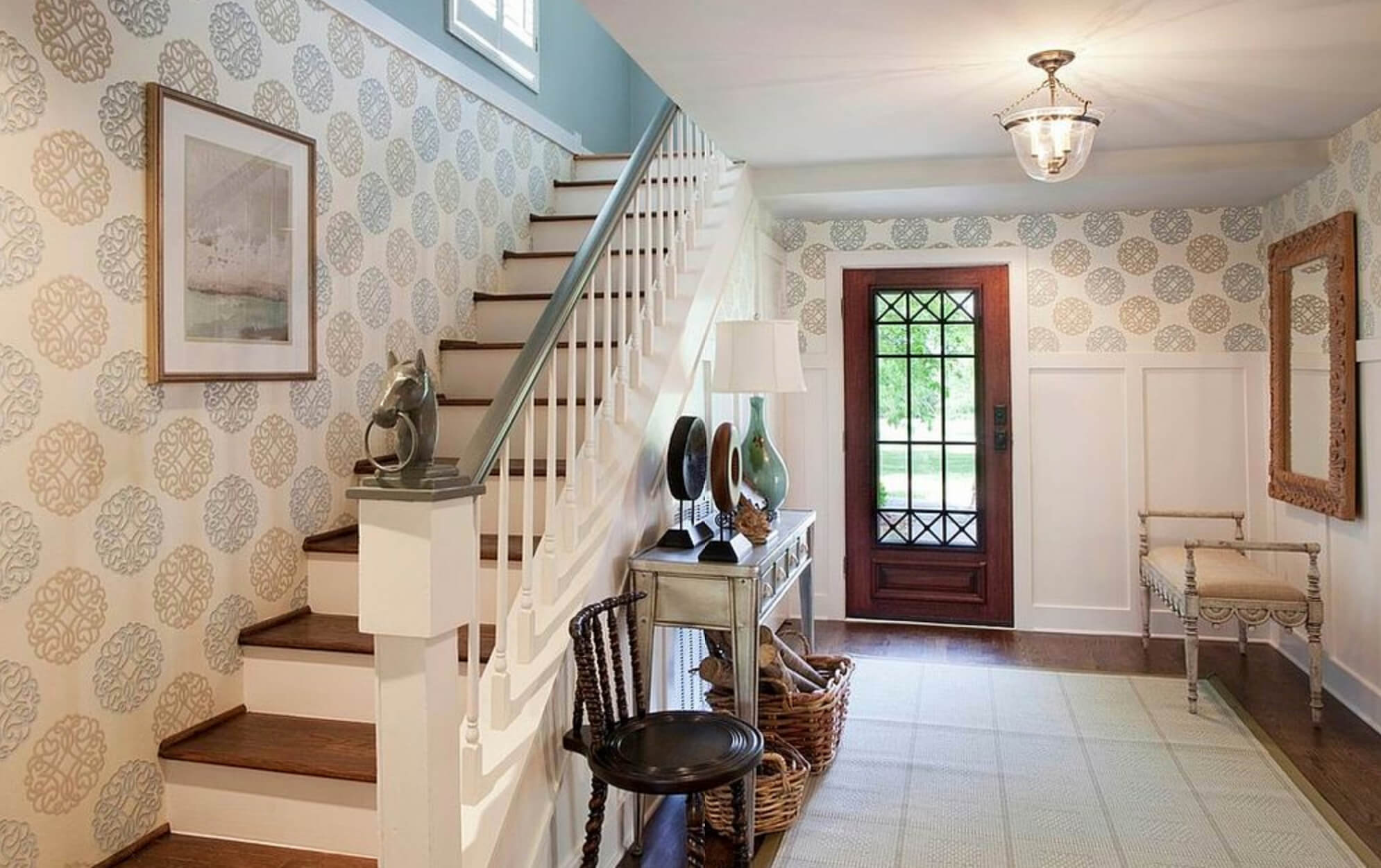foyer wallpaper