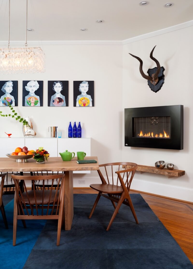 Indoor Fireplaces Gas Wall Mount