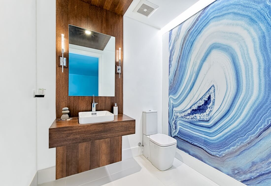 Natural Textures Geode Bathroom