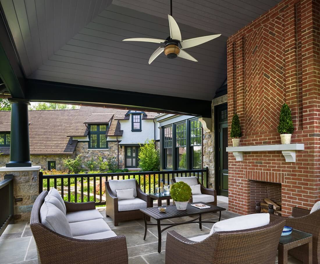 Outdoor Fireplaces Brick Pattern