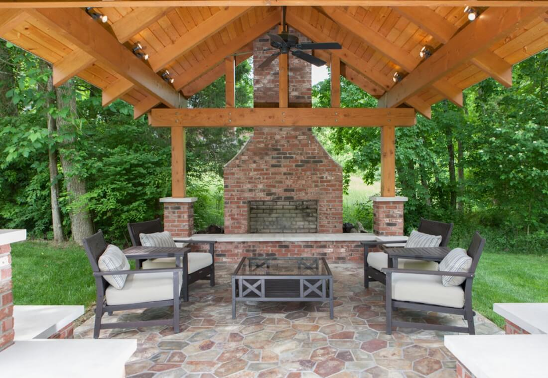 Outdoor Fireplaces Brick Style