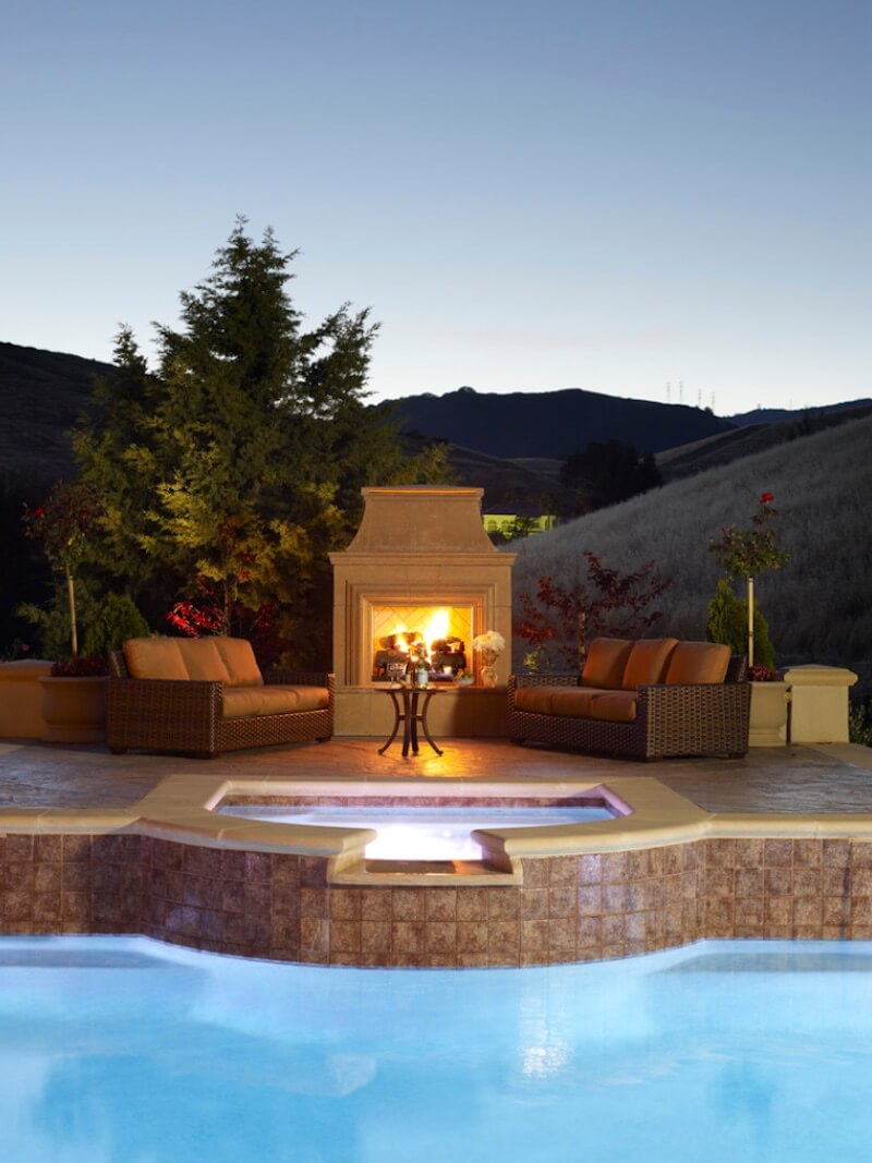Outdoor Fireplaces Poolside