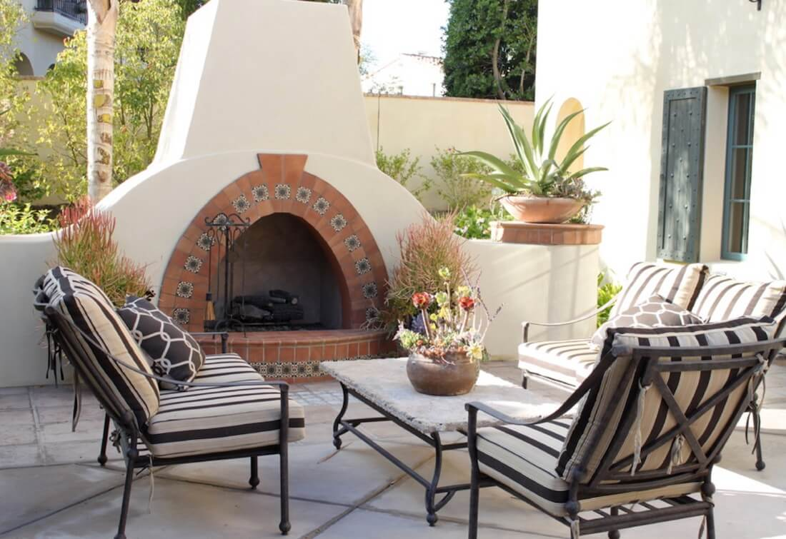 Outdoor Fireplaces Terra Cotta Tile