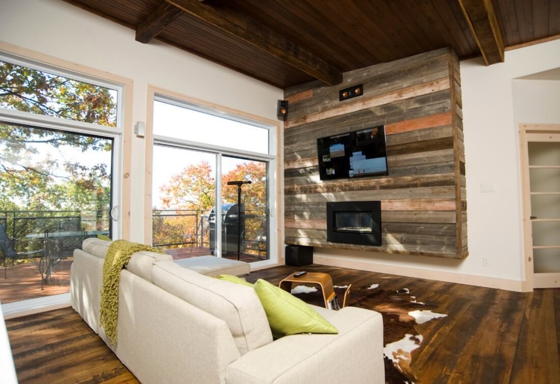 Rustic Chic Accent Walls Pallet Wall