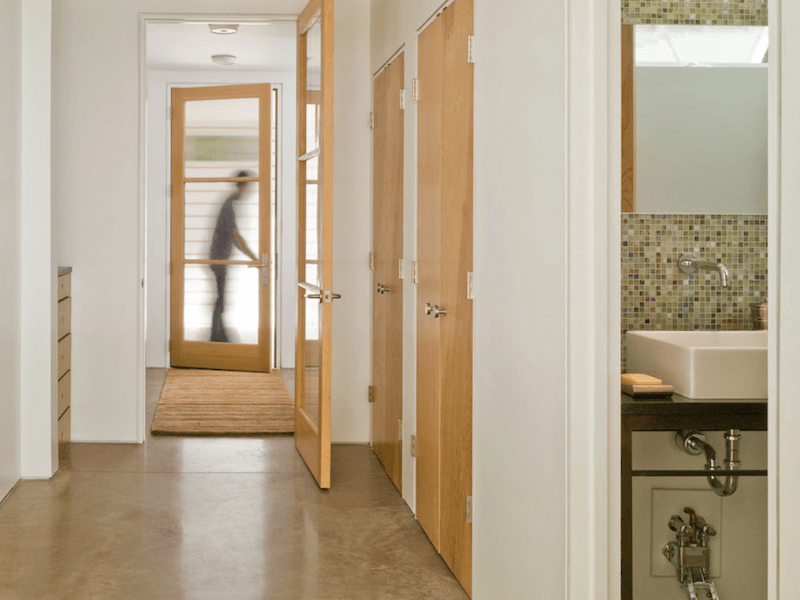 concrete floors - entryway