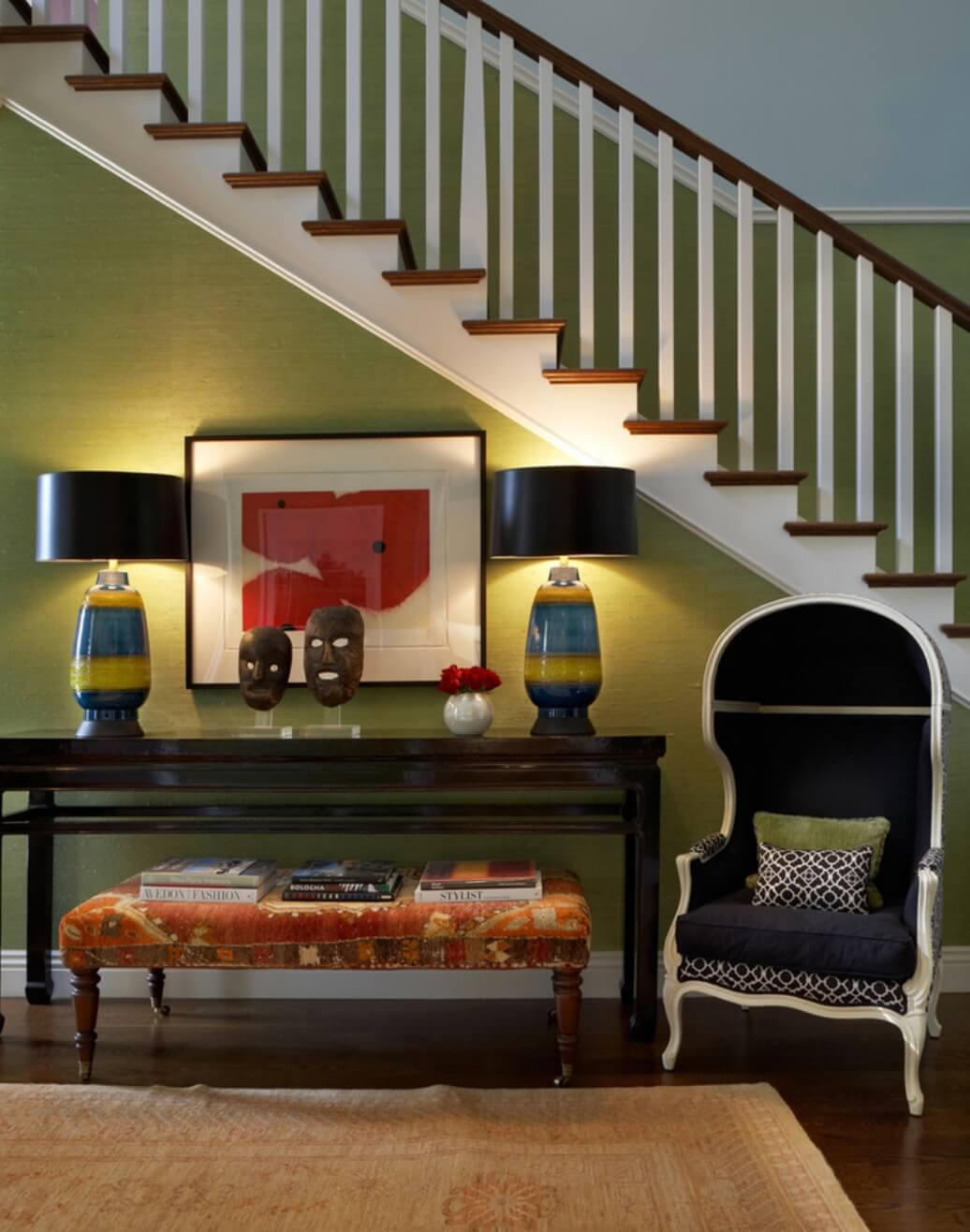 eclectic foyer colors