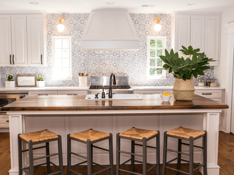 Patterned Tile In The Kitchen