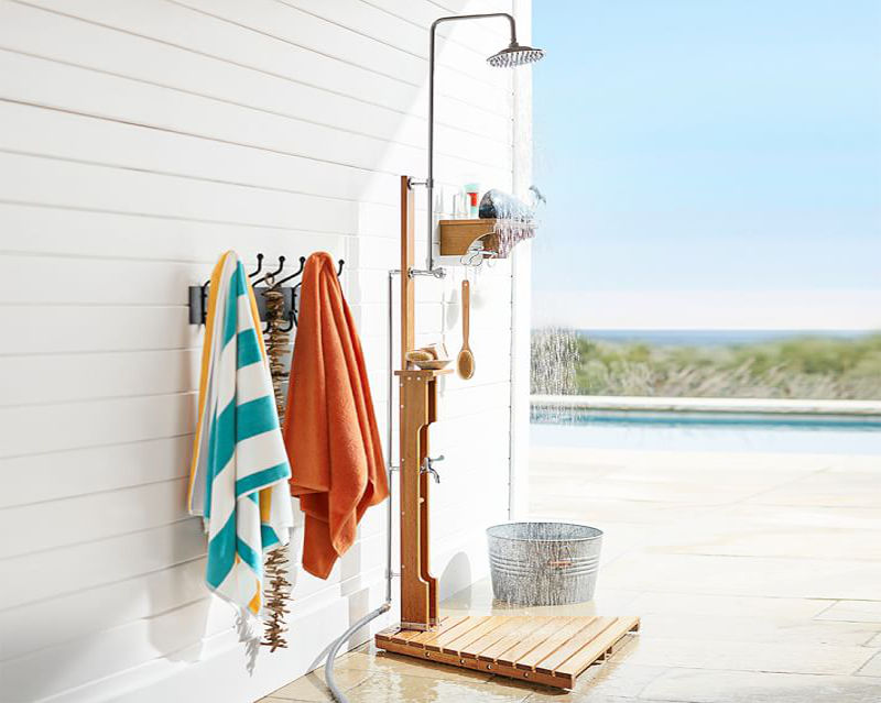 25 Refreshing Outdoor Shower Ideas For An Easy Breezy Summer